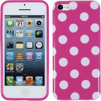 Silikon Hülle iPhone 5c Polkadot Design:03