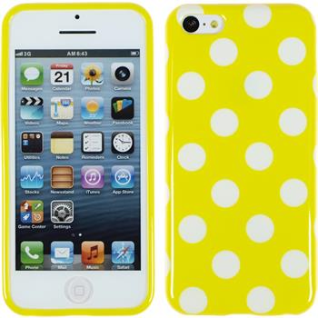 Silicone Case for Apple iPhone 5c Polkadot Design:04