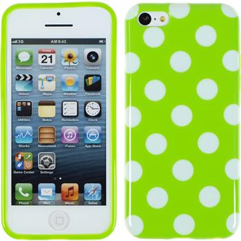 Silikon Hülle iPhone 5c Polkadot Design:05