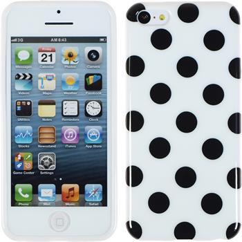 Silikon Hülle iPhone 5c Polkadot Design:06