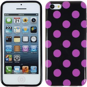 Silicone Case for Apple iPhone 5c Polkadot Design:07