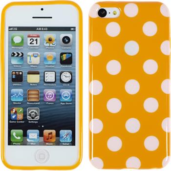 Silikon Hülle iPhone 5c Polkadot Design:10