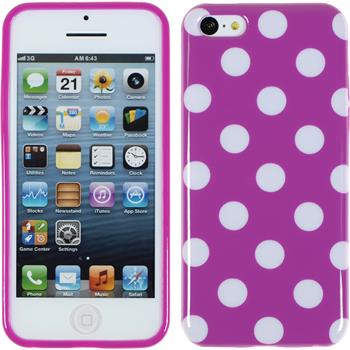 Silikon Hülle iPhone 5c Polkadot Design:11