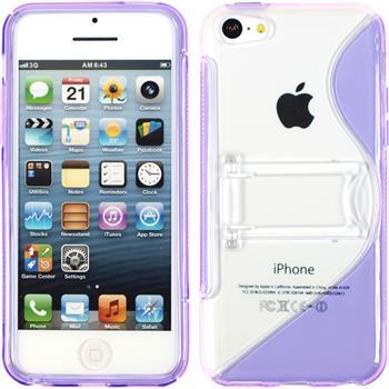 Silikon Hülle iPhone 5c Aufstellbar lila
