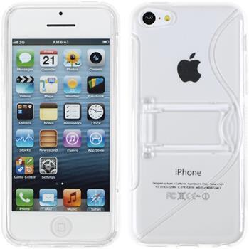Silikon Hülle iPhone 5c Aufstellbar clear
