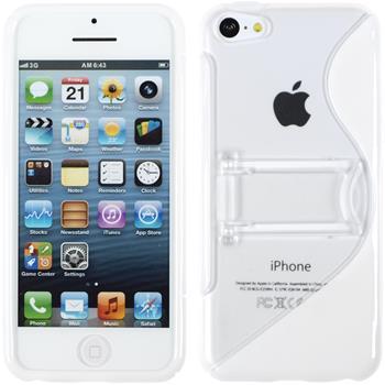 Silikon Hülle iPhone 5c Aufstellbar weiß