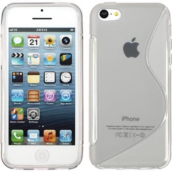 Silicone Case for Apple iPhone 5c S-Style gray