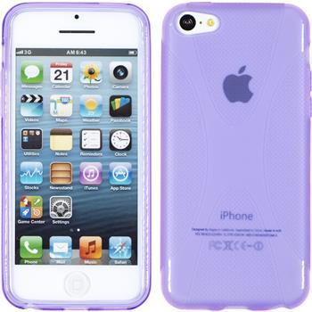 Silikon Hülle iPhone 5c X-Style lila