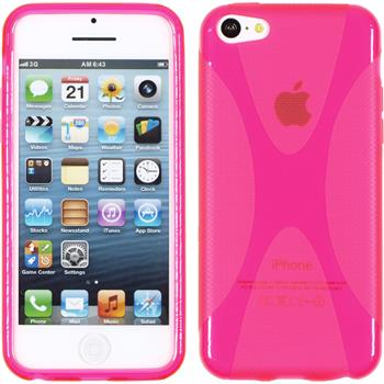 Silikon Hülle iPhone 5c X-Style pink