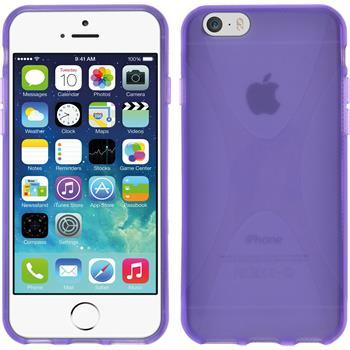 Silikon Hülle iPhone 6s / 6 X-Style lila
