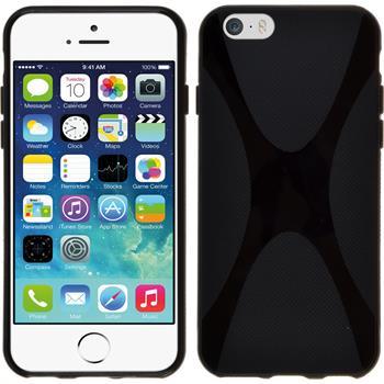 Silikon Hülle iPhone 6s / 6 X-Style schwarz