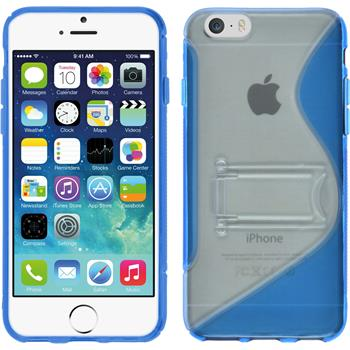 Silikon Hülle iPhone 6s / 6 Aufstellbar blau