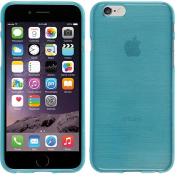 Silikon Hülle iPhone 6s / 6 brushed blau