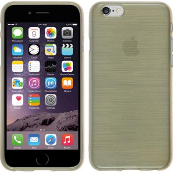 Silikon Hülle iPhone 6s / 6 brushed gold + 2 Schutzfolien