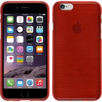 Silikon Hülle iPhone 6s / 6 brushed rot