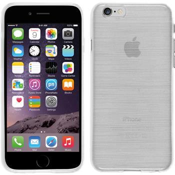 Silikonhülle für Apple iPhone 6s / 6 brushed weiß