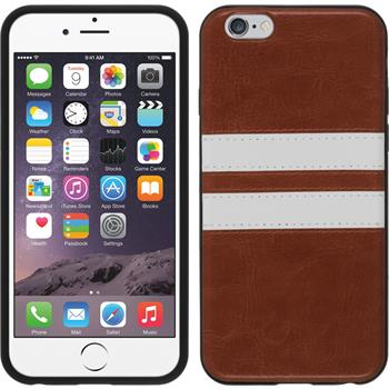 Silicone Case for Apple iPhone 6 Stripes brown