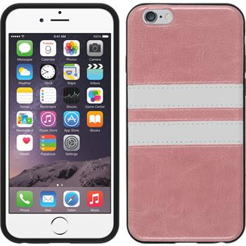 Silikon Hülle iPhone 6s / 6 Stripes rosa
