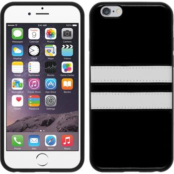 Silikon Hülle iPhone 6s / 6 Stripes schwarz