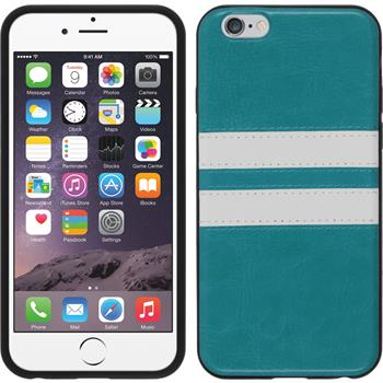Silicone Case for Apple iPhone 6 Stripes turquoise