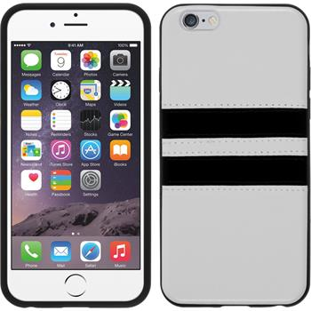 Silikon Hülle iPhone 6s / 6 Stripes weiß