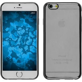 Silikon Hülle iPhone 6s / 6 Slim Fit grau + 2 Schutzfolien