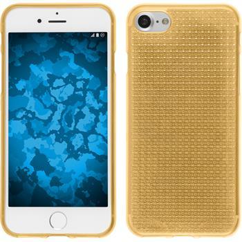 Silikon Hülle iPhone 7 / 8 Iced gold + 2 Schutzfolien