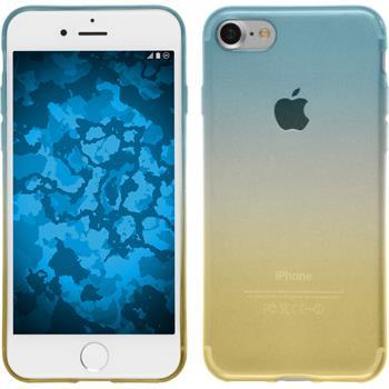 Silikon Hülle iPhone 7 / 8 Ombrè Design:02 + 2 Schutzfolien