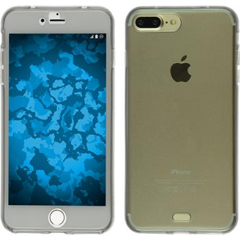 Silikon Hülle iPhone 7 Plus 360° Fullbody grau