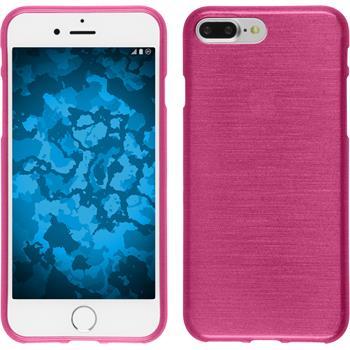 Silikon Hülle iPhone 7 Plus / 8 Plus brushed pink + 2 Schutzfolien