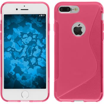 Silikonhülle für Apple iPhone 7 Plus S-Style pink