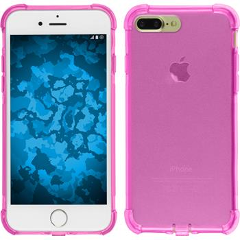 Silikon Hülle iPhone 7 Plus Shock-Proof rosa