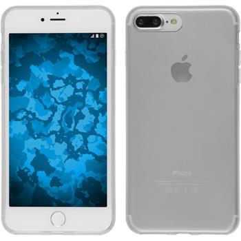 Silikon Hülle iPhone 7 Plus transparent weiß