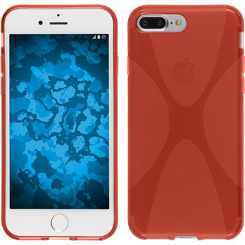 Silikonhülle für Apple iPhone 7 Plus X-Style rot