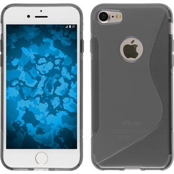 Silikon Hülle iPhone 7 S-Style grau