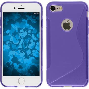 Silikon Hülle iPhone 7 S-Style lila