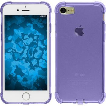 Silikon Hülle iPhone 7 / 8 Shock-Proof lila + 2 Schutzfolien