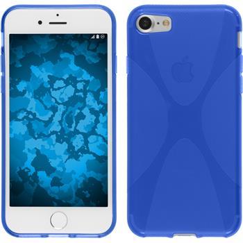 Silikon Hülle iPhone 7 X-Style blau
