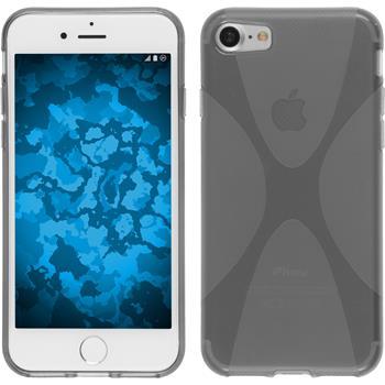 Silikon Hülle iPhone 7 X-Style grau