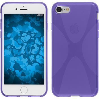 Silikon Hülle iPhone 7 X-Style lila