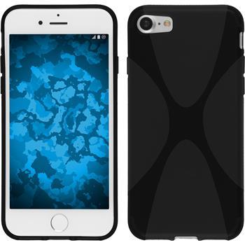 Silikon Hülle iPhone 7 X-Style schwarz