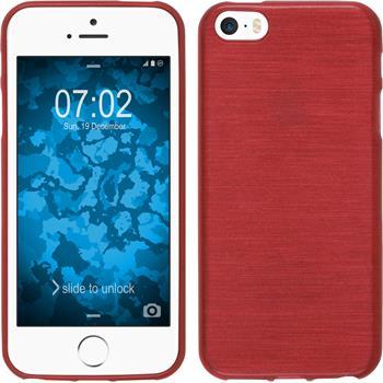 Silikonhülle für Apple iPhone SE brushed rot