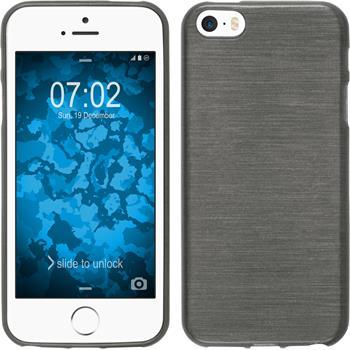 Silikon Hülle iPhone SE brushed silber