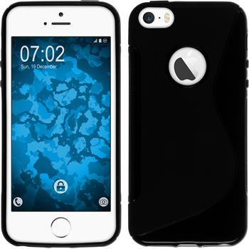 Silikon Hülle iPhone SE S-Style Logo schwarz