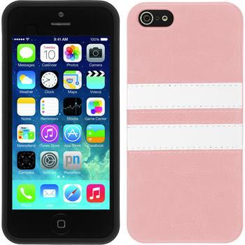 Silikon Hülle iPhone SE Stripes rosa