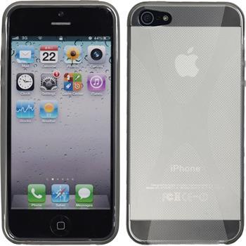 Silikon Hülle iPhone SE X-Style grau