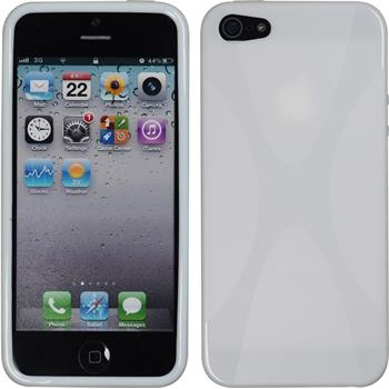 Silikonhülle für Apple iPhone SE X-Style weiß