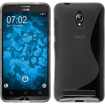 Silikon Hülle Zenfone Go (ZC500TG) S-Style grau