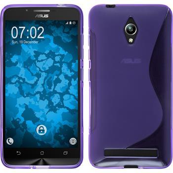 Silikon Hülle Zenfone Go (ZC500TG) S-Style lila