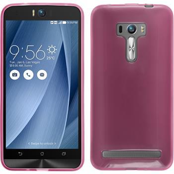 Silikon Hülle Zenfone Selfie transparent rosa